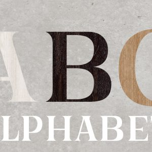 Artesive Alphabet – Decorative Adhesive Letters for Furniture and Home