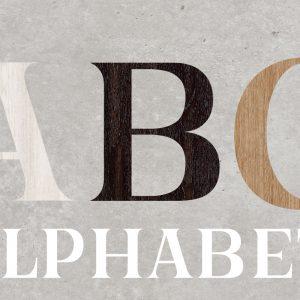 Artesive Alphabet – Lettres Adhésives décoratives pour meubles et maison