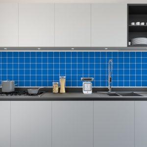 Artesive Tily MA-017 Bleu Italien Mat – Film adhésif pour carrelage