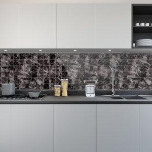 Artesive Tily ST-05 Zwart Marmer – Zelfklevende Folie voor Tegels