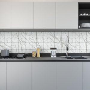 Artesive Tily ST-09 Wit Carrara Marmer – Zelfklevende Folie voor Tegels