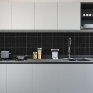 Artesive Tily TEC-022 Zwarte Leer – Zelfklevende Folie voor Tegels