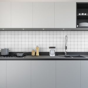 Artesive Tily TEC-023 Witte Leer – Zelfklevende Folie voor Tegels