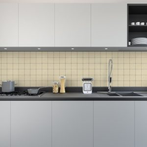 Artesive Tily TEC-024 Beige Leer – Zelfklevende Folie voor Tegels